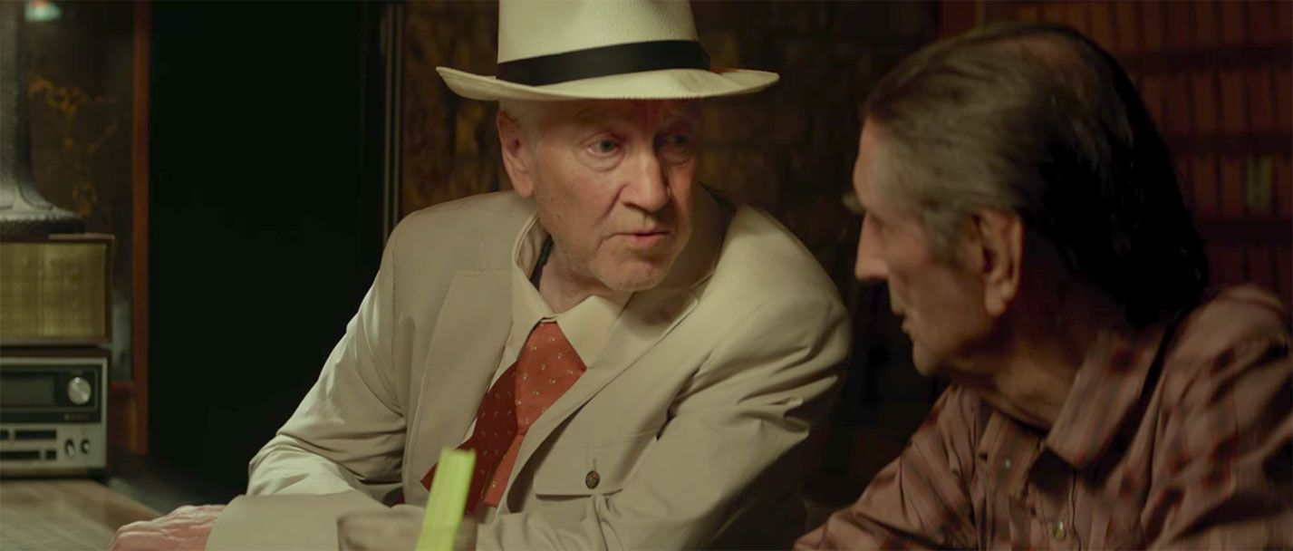 Harry Dean Stanton y David Lynch en el film Lucky
